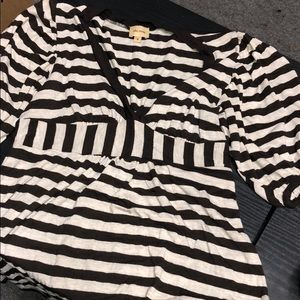 Small brown striped blouse